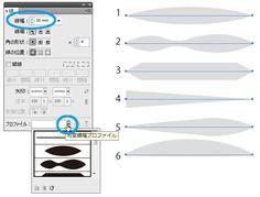 Illustratorの線幅ツールでキャラクターの髪を描く | 鈴木メモ