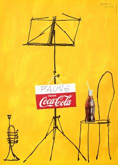 """""""Pause - Trink Coca-Cola"""", a poster by Herbert Leupin available for sale on internationalposter.com"""