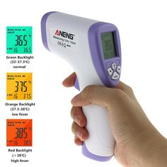Digital Thermometer Non-contact IR Infrared Thermometer Baby Forehead Body Surface Temperature Measurement Termometro Infraverme  Price: 10.96 USD