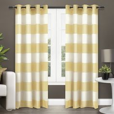Shop for ATI Home Surfside Cotton Cabana Stripe Grommet Top Curtain Panel Pair. Get free delivery at Overstock.com - Your Online Home Decor Outlet Store! Get 5% in rewards with Club O! - 17924437