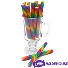 Squire Boone Rainbow Candy Stick Straws: 48-Piece Box | CandyWarehouse.com Bulk Candy, Candy Store, Wholesale Candy, Types Of Candy, Psychedelic Colors, Rainbow Candy, New Inventions, Candy Buffet, Jelly Beans