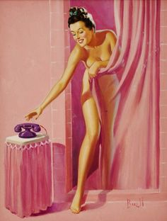 pin up girl in the pink -