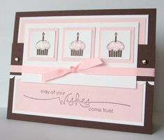 Cupcake Wishes by justbehappy - Cards and Paper Crafts at Splitcoaststampers