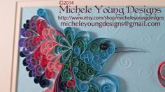 Colorful Framed Quilled Hummingbird by MicheleYoungDesigns, $60.00