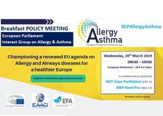 "Tomorrow we will discuss ""Championing a renewed EU agenda on allergy and airways diseases for a healthier Europe"" at Parliament. Follow us with #EPAllergyAsthma for updates of an inspiring debate. European Parliament, Allergy Asthma, Interest Groups, Allergies, Twitter Sign Up, Insight, Shit Happens"