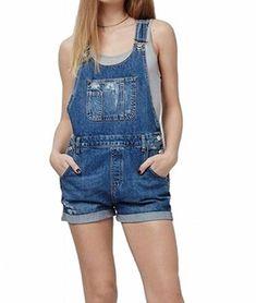 cef459c053 Cool summer jumpsuit Denim Jean Romper for women · Dungarees ShortsJeans  JumpsuitBib OverallsPantsJean ...