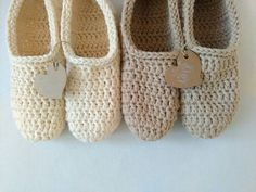 Your place to buy and sell all things handmade Slippers Crochet, Cool Gifts For Women, Cotton Crochet, Womens Slippers, Baby Shoes, My Etsy Shop, Beige, Touch, Knitting