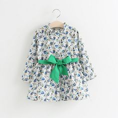 Find More Dresses Information about Spring New Long Sleeve Floral Printed Baby Kids Girls A line Loose Dress Korean Style Fashion Dress With Bows Children Clothing,High Quality dress multi,China dresses chinese Suppliers, Cheap fashion and you dress from IMO(In My Opinion) on Aliexpress.com