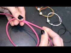 ▶ 1001 PERLE/ Justerbar knude / adjustable knot/ Lav selv smykker - YouTube