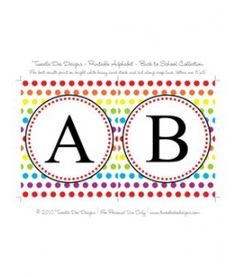Rainbow Alphabet Banner - Back to School Collection
