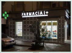 "All Farmacia I+ stores are designed with what might be called ""Lego concept"" so that the design can be adapted to the surface, both pharmacy as one of We hope you like it. Visual Merchandising, Pharmacy Store, Drug Store, Sevilla Spain, Pharmacy Design, City Select, Retail Store Design, Shop Fittings, Branding"