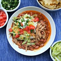 skinny slow cooker burrito bowls! Add some avocado... Mmmm!!