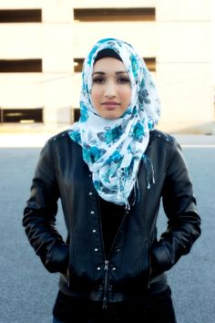 Floral Hijabs, Hijab fashion,  Follow us for more hijabi fashion styles Grace scarf only $15 www.jannahgifts.com
