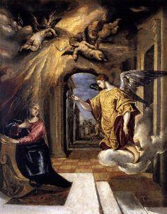 EL GRECO, Greek-born Spanish Mannerist (1541-1614) _The Annunciation c. 1570