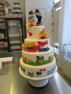 Dutch Colombian wedding by CAKE Amsterdam - Cakes by ZOBOT, via Flickr- awww so cute!!! :) Colombian Wedding, Colombian Food, Colombian Culture, Vanilla Buttercream, Vanilla Cake, Different Kinds Of Cakes, Lily Wedding, May Weddings, Food Decoration