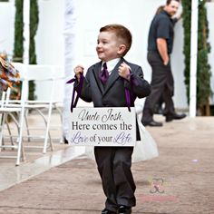 Wedding Sign Here Comes The Love Of Your Life Here comes the Bride Uncle Sign Ring Bearer Sign Custom Wedding Sign is part of Custom wedding signs - 2 inch thick Wedding Signs, Wedding Bride, Diy Wedding, Wedding Ceremony, Wedding Photos, Dream Wedding, Wedding Blog, Wedding Venues, Wedding Dress