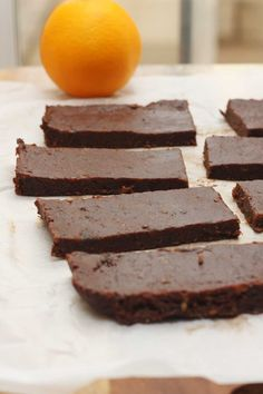 5-ingredient raw chocolate orange bars by Scrummy Lane