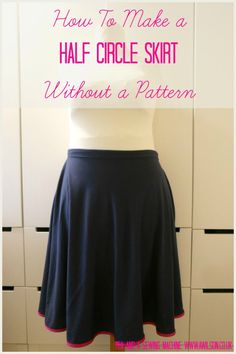 Half circle skirts are very easy to make! They use less fabric than circle skirts but they're still lovely to wear. If you are looking for a project you can complete in an evening, then look no further! This version is made from jersey so no zips to sew in and it's comfy too.