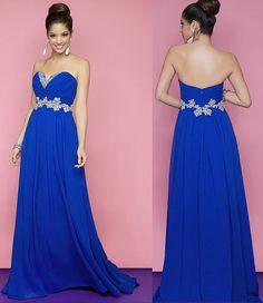 Hannah's wedding bridesmaids royal Blue by Lemonweddingdress