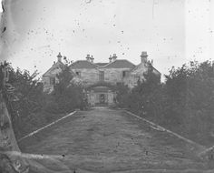 Rear view of Drummoyne House, 1850s - built by William Wright. now demolished