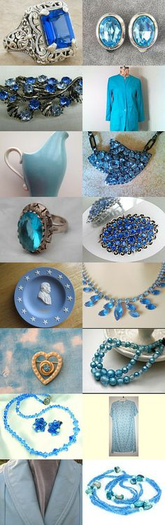 Blue ❀  by Dorota and Monika on Etsy--Pinned with TreasuryPin.com
