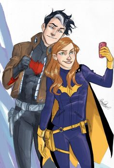 Jason Todd and Barbara Gordon..NO I DONT SHIP IT!!