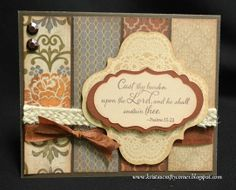 card by Krista Hershberger using CTMH Huntington paper, Make It From Your Heart vol 1 - pattern #19, Artbooking Cricut bundle.