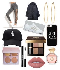 """""""School outfit #3"""" by ingagharibyan on Polyvore featuring Stussy, adidas, Brooks Brothers, Casetify, Bobbi Brown Cosmetics, Lime Crime and Tory Burch"""