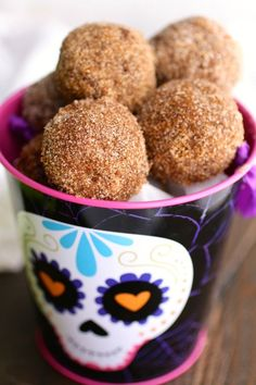 These little gems are a delight! Whether you serve Cinnamon-Sugar Coated Chocolate Donut Holes with milk or witch's brew, these are a fun treat for the season, and beyond.