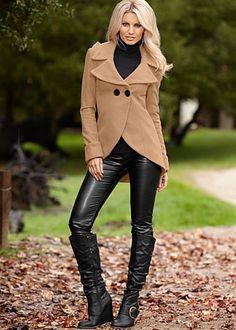 black skinny faux leather pants, schwarze Lederröhre, knitted ...