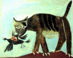 A Pablo Picasso Art Gallery Kunst Picasso, Art Picasso, Picasso Paintings, Picasso Images, Picasso Blue, Picasso Style, Animal Paintings, Cubist Movement, Guernica