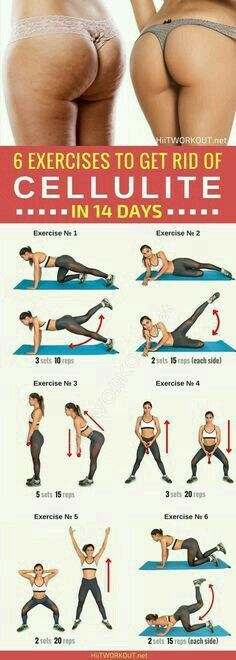 Health And Fitness: 6 effective exercises to get rid of cellulite, designed to tighten the muscles and reduce the thighs and buttocks. by jeanne Fitness Workouts, Fitness Motivation, Sport Fitness, Butt Workout, Fitness Diet, At Home Workouts, Health Fitness, Cellulite Workout, Cellulite Exercises