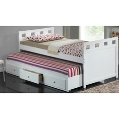 """Found it at Wayfair - Breckenridge Twin Captain Bed with Trundle and Storage $760, 4"""" trundle ?"""