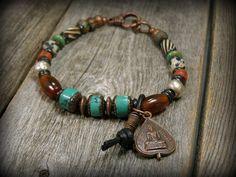 Tribal Bracelet, Turquoise Bracelet, Mens Bracelet, Native American, Mens Jewelry,  by StoneWearDesigns