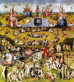 """Painting+""""Triptiek+van+de+Tuin+der+Lusten+(centrale+paneel)""""+by+Hieronymus+Bosch+-+www.schilderijen.nu"""