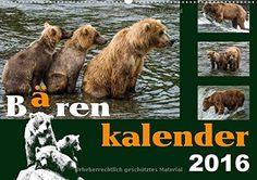 Bärenkalender Wandkalender 2016 DIN A2 quer : Braunbären - 36 faszinierende Fotos in einem Kalender Monatskalender, 14 Seiten: Amazon.de: Max Steinwald: Bücher
