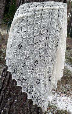 Ravelry: The Flight of the Butterfly pattern by Meeli Vent Shawl Patterns, Lace Patterns, Knitting Patterns, Knitting Tutorials, Knitted Shawls, Knitted Blankets, Lace Shawls, Knit Cowl, Finger Knitting