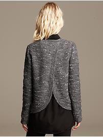 Metallic Cross-Back Pullover