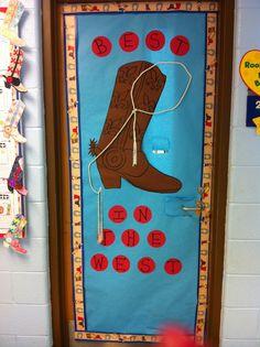 Western theme door decoration