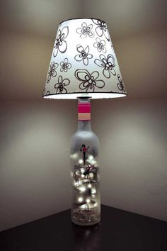 Skinny Girl Bottle Lamp <3