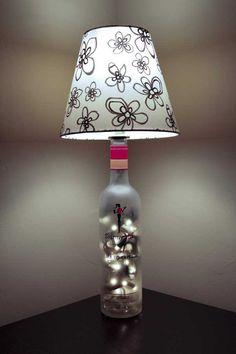 Skinny Girl Bottle Lamp <3
