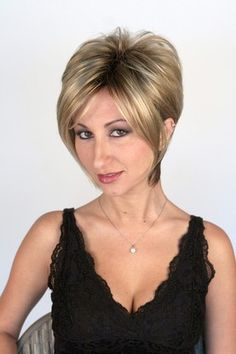 Chic and Sexy! Our Kelly Wig with Roots in Creamy Toffee is one of our most popular short wigs. Long and luxurious in the front around the face and contoured towards the neck in the back. Machine teased gives extra volume at the crown. Why Hair Loss, Hair Loss Cure, Oil For Hair Loss, Stop Hair Loss, Hair Loss Women, Natural Hair Growth Remedies, Hair Loss Remedies, Best Hair Loss Shampoo, Herbs For Hair