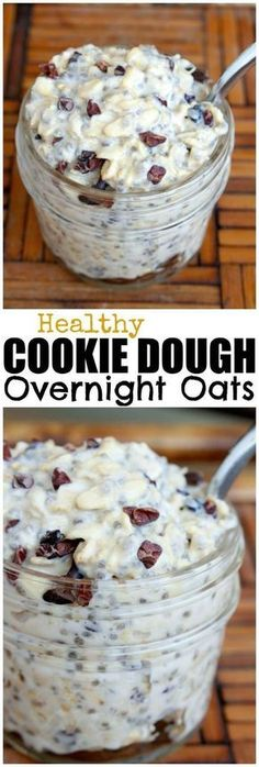 HEALTHY Cookie Dough Overnight Oats!