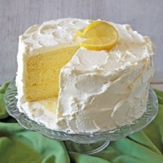 CakeJournal.com :: Lemon Chiffon Layer Cake Recipe