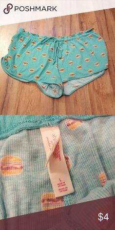 Comfortable Cheeseburger Sleep Shorts So incredible soft Xhilaration Shorts