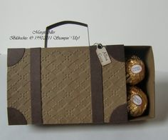 Suitcase treat box with pdf for template/ measurements - bjl