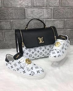 Louis Vuitton 2485 - bag combined with sports shoes. Shared by Career Path Design - Louis Vuitton ❤ - bags Vuitton Bag, Louis Vuitton Handbags, Purses And Handbags, Real Louis Vuitton, Gucci Handbags, Tote Handbags, Louis Vuitton Monogram, Toms Shoes Outlet, Black And White Bags