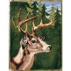 My favorite source for arts and crafts:  White Tail Buck Latch Hook Rug Kit