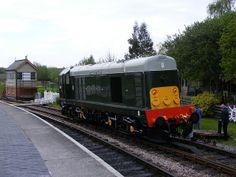 The south devon railways class 20 d8110 at totnes