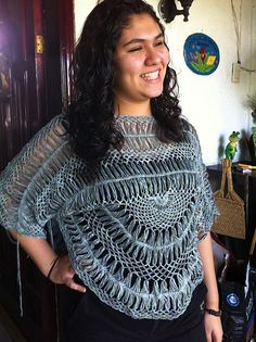 Ravelry: hilda101's Hair Pin lace Poncho Gofe